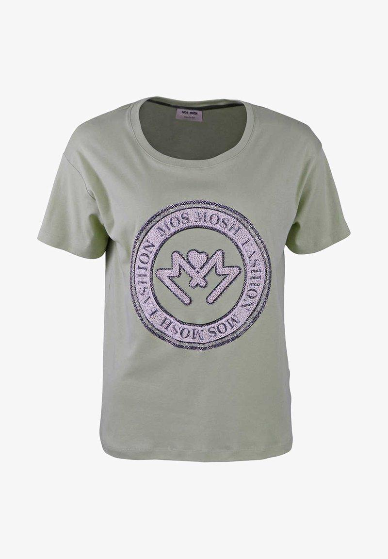 Mos Mosh - Print T-shirt - gr眉n/petrol