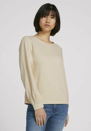 Sweatshirt - smooth light sand