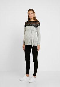 MAMALICIOUS - Jumper - light grey melange/black - 1
