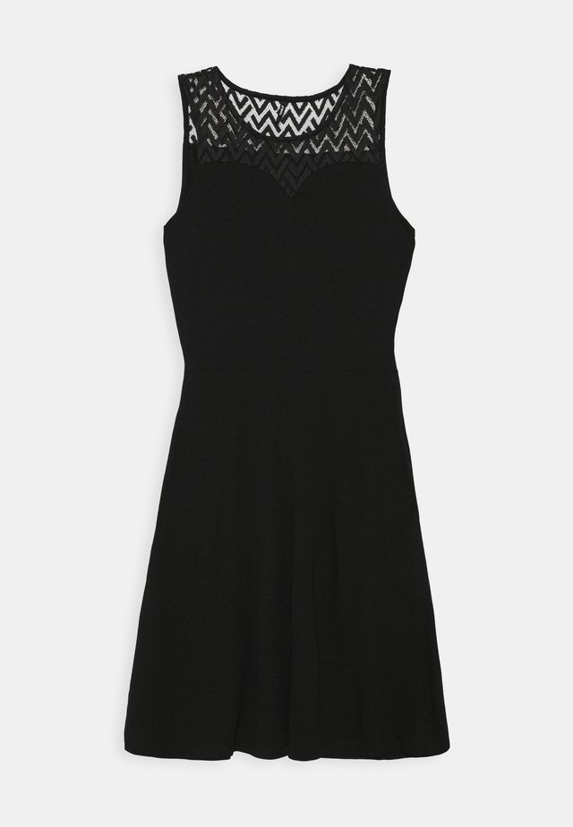 ONLNEW NICOLE LIFE DRESS - Žerzejové šaty - black