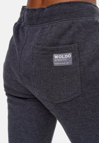 Woldo Athletic - W-LOGO - Tracksuit bottoms - dunkelgrau grün - 5