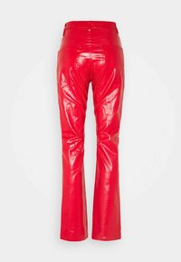 Weekday - RALPH COATED TROUSERS - Trousers - bright red - 1