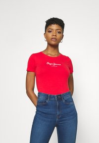 Pepe Jeans - NEW VIRGINIA - Print T-shirt - mars red - 0