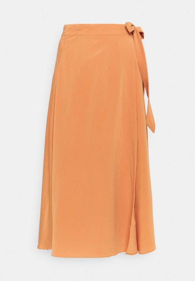 YASSUNNA MIDI WRAP SKIRT - Gonna a campana - sunburn