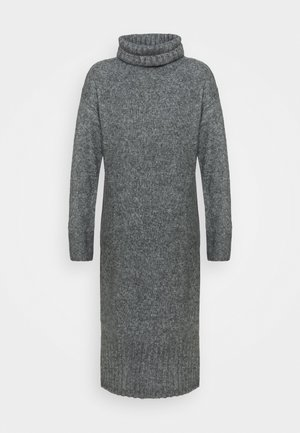 ROLL NECK DRESS - Abito in maglia - dark grey