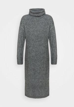 ROLL NECK DRESS - Pletené šaty - dark grey