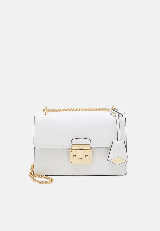 CRIWIEL - Borsa a tracolla - bright white/gold-coloured