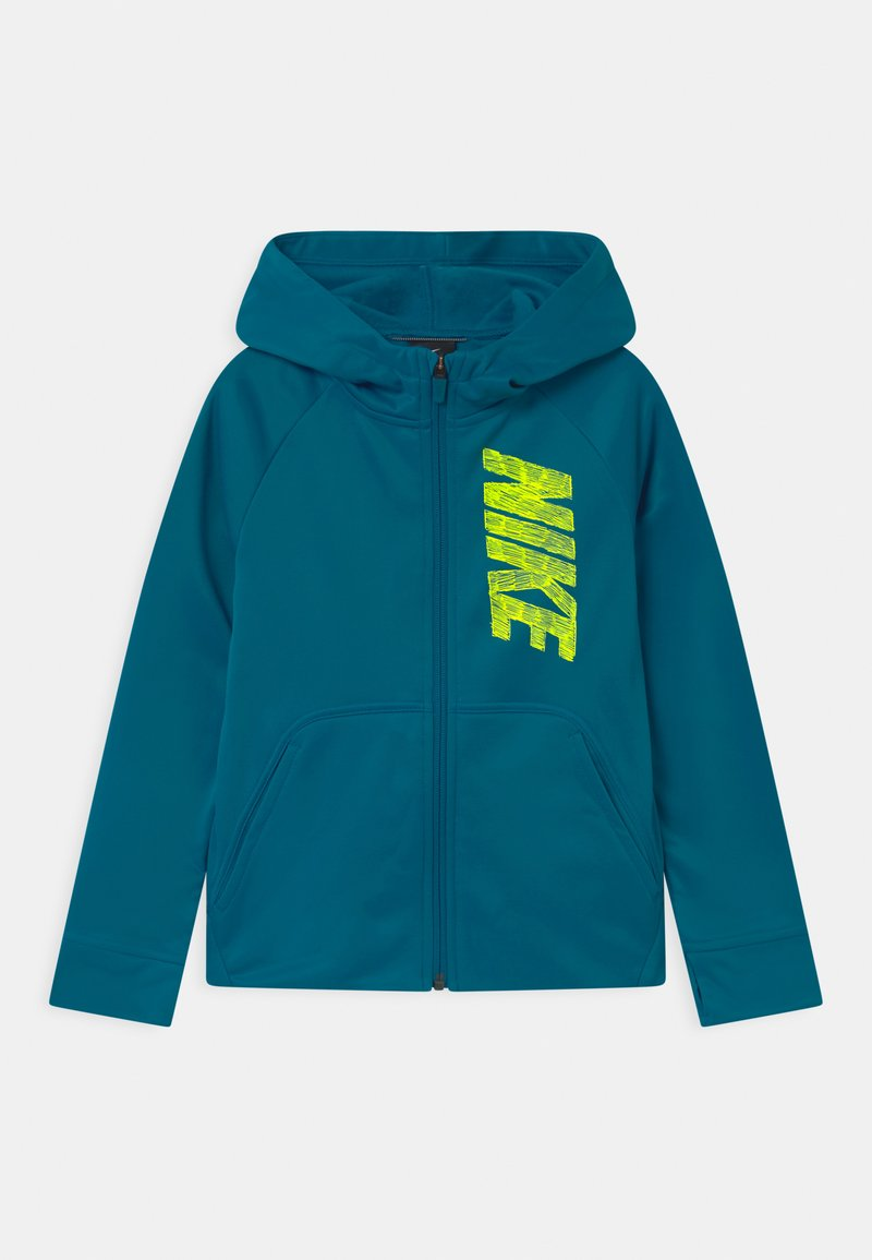 Nike Performance - THERMA HOODIE - Training jacket - green abyss/volt