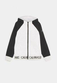Calvin Klein Jeans - PUNTO FABRIC MIX ZIP THROUGH - Mikina na zip - grey - 0