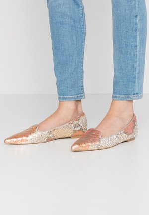 Slip-ons - red/gold