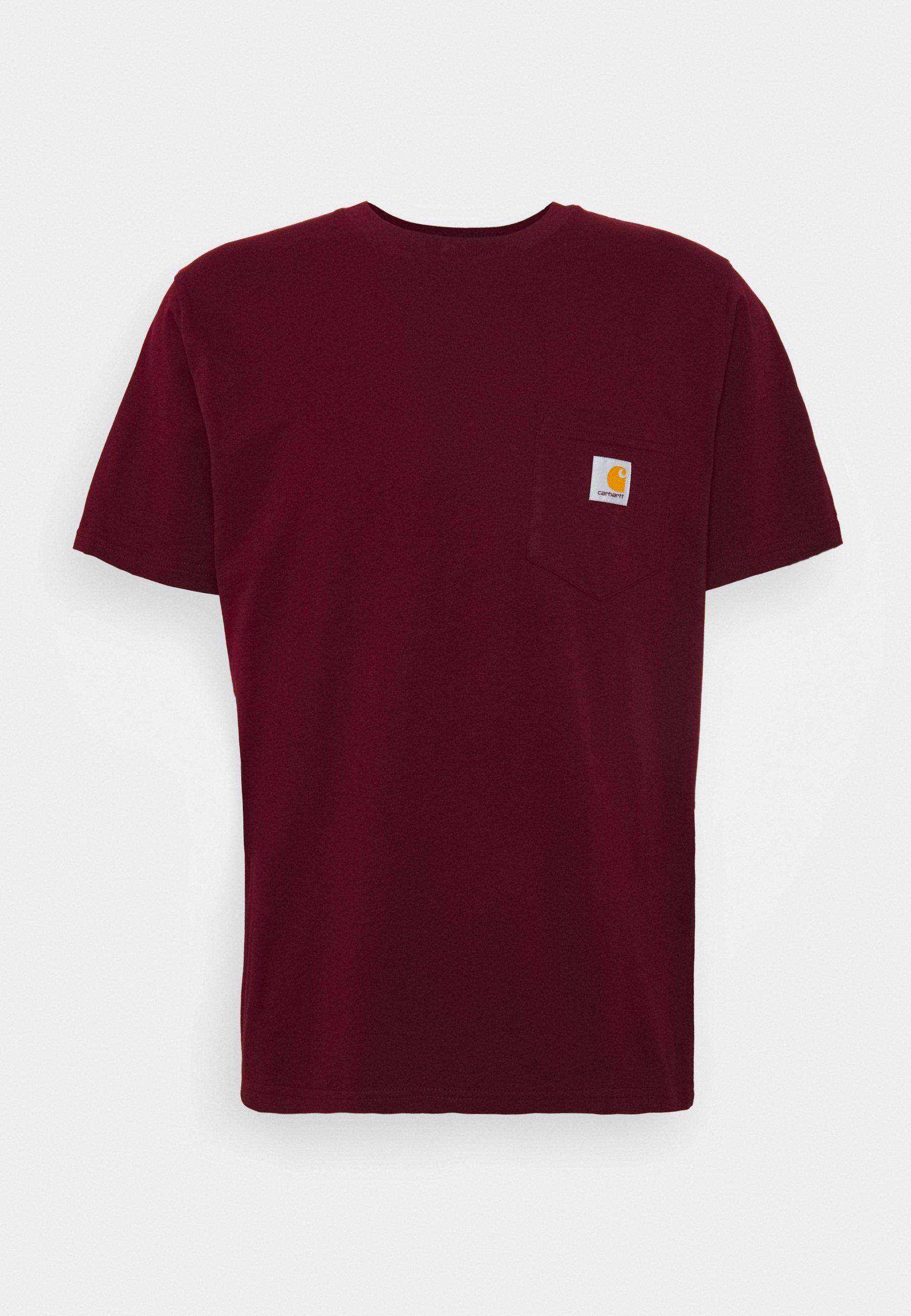 alma Bombero petrolero  Carhartt WIP Camiseta básica - bordeaux/burdeos - Zalando.es