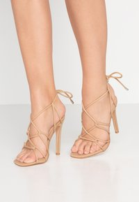 Public Desire - SAVY - High heeled sandals - nude - 0