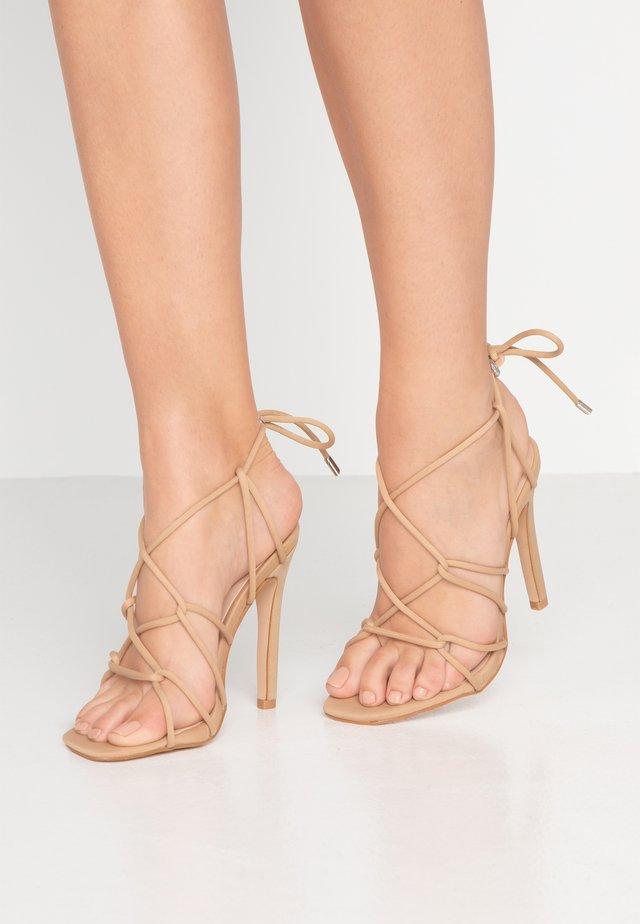 SAVY - High heeled sandals - nude