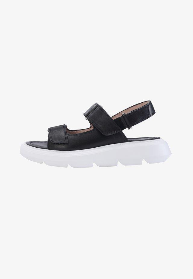 PORTAL - Sandalen met plateauzool - black