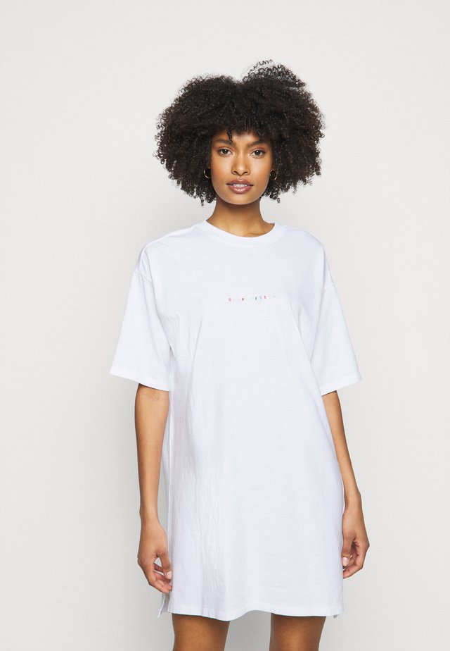 TEE DRESS OVERDRESSED - Robe en jersey - white