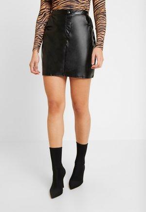 DETAILED SKIRT - A-line skirt - black