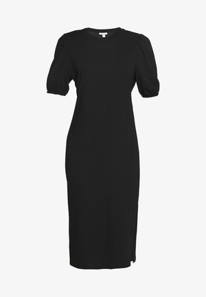 CUT OUT BACK MIDI - Shift dress - black