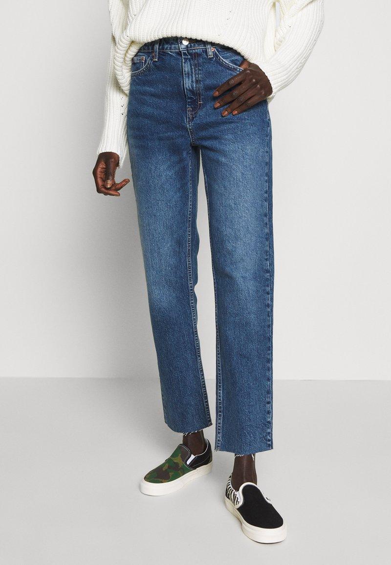 Topshop Tall - CLEAN - Straight leg jeans - blue denim
