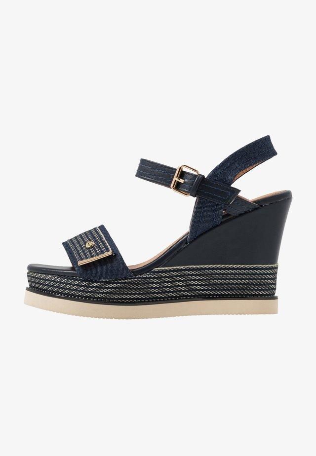 Sandales à talons hauts - navy