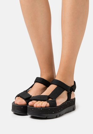 ORUGA UP - Platform sandals - black