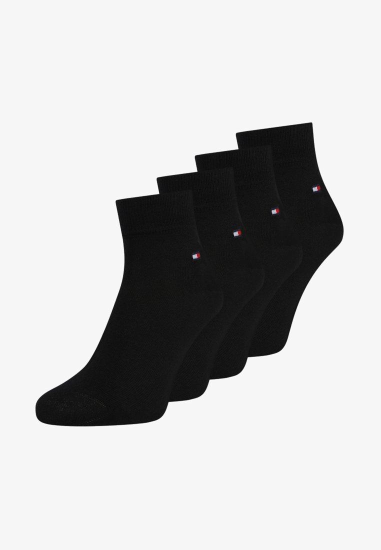 Tommy Hilfiger - MEN QUARTER 4 PACK - Socks - black