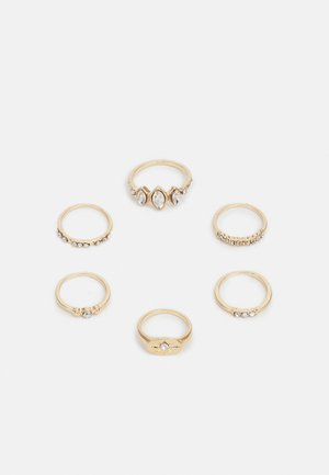 ONLMILLE FINGERRINGS 6 PACK - Pierścionek - gold-coloured