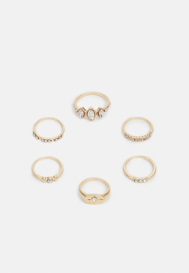 ONLMILLE FINGERRINGS 6 PACK - Sormus - gold-coloured
