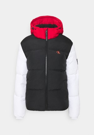 COLOURBLOCK PUFFER - Giacca invernale - black/ white / red