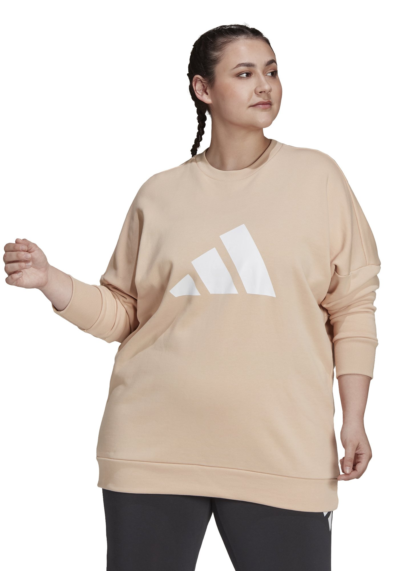 Women FI 3B CREW SPORTS PRIMEGREEN PULLOVER SWEATSHIRT LOOSE - Sweatshirt