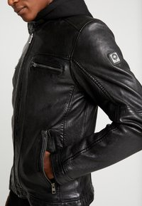 Oakwood - DRINK - Leather jacket - black - 7