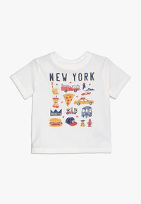 GAP - TODDLER BOY CITY - Print T-shirt - new off white - 0