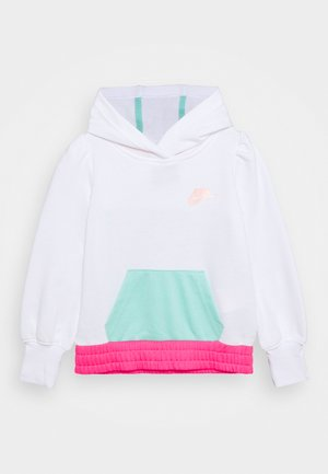 COLORBLOCK HOODIE - Sweater - white