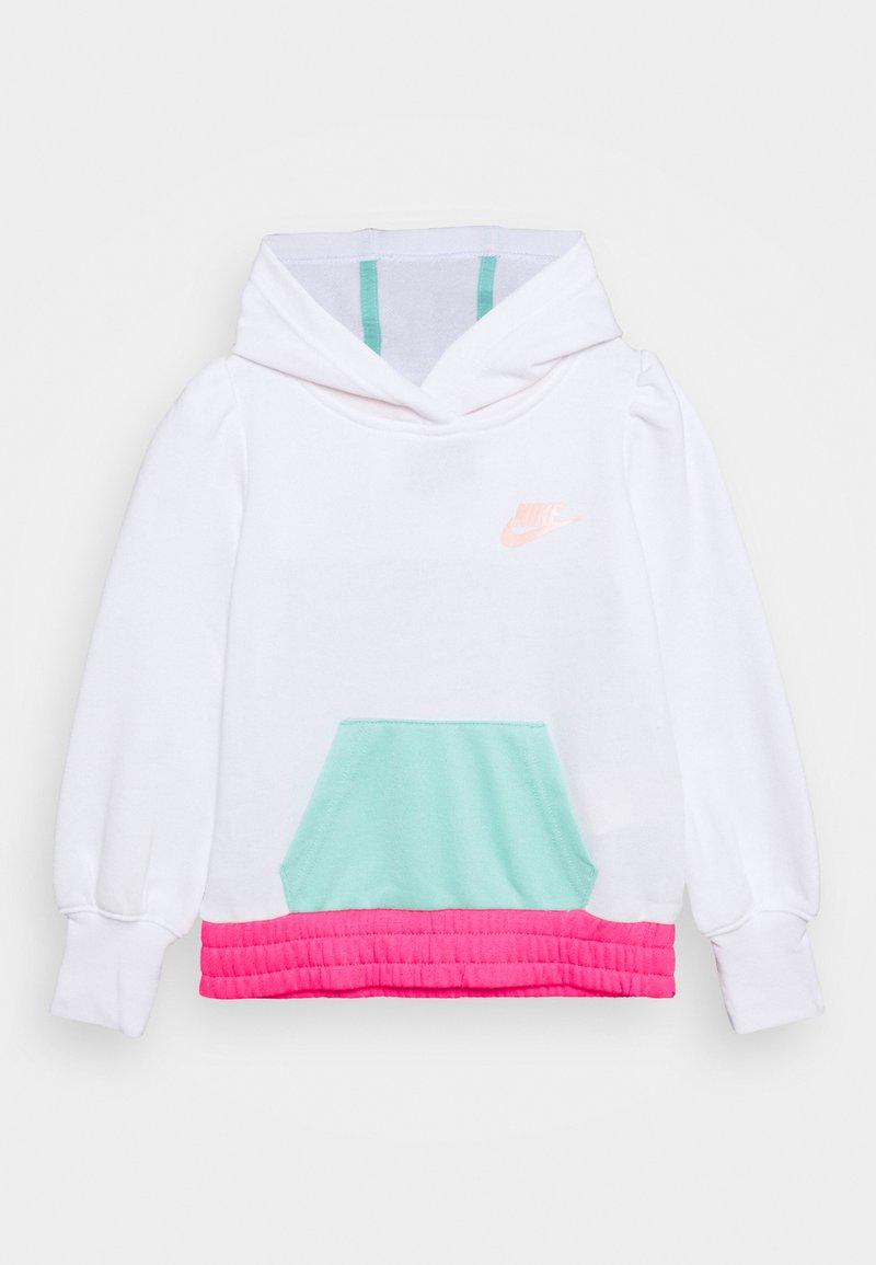 Nike Sportswear - COLORBLOCK HOODIE - Mikina - white