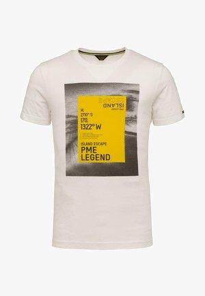 SHORT SLEEVE R NECK SINGLE  - Print T-shirt - off white