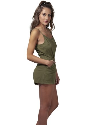 LADIES SHORT SPAGHETTI - Jumpsuit - olive