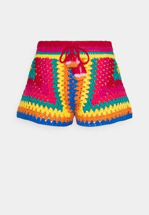 STRIPED SCARF CROCHET SHORTS - Shorts - multicoloured