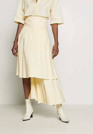 FIA PLEATED MIDI SKIRT - Wrap skirt - butter
