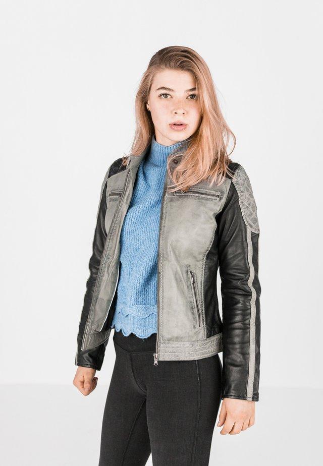 BUG - Leather jacket - grau