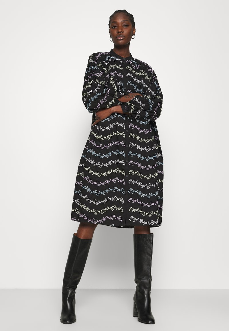 Résumé - CORA DRESS - Shirt dress - black