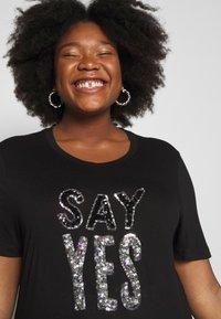Simply Be - SEQUIN - T-shirts print - black - 5