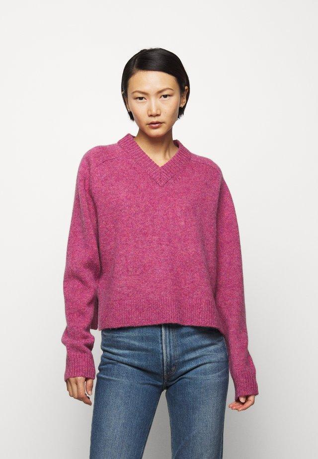 LEONARDO - Strikkegenser - pink violet