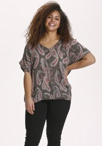 Kaffe Curve - KCARKY - Blouse - grape leaf paisley print - 0