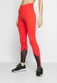 Wolf & Whistle - EXCLUSIVE LEGGINGS WITH PANELS - Leggings - red - 0