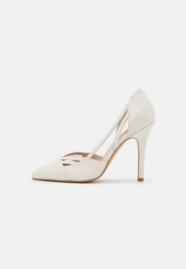 LEATHER - High heels - offwhite