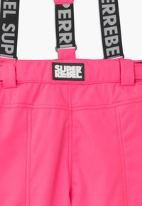SuperRebel - SUSTAINABLE UNISEX - Snow pants - fluo pink - 2