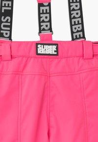 SuperRebel - SUSTAINABLE UNISEX - Zimní kalhoty - fluo pink - 2
