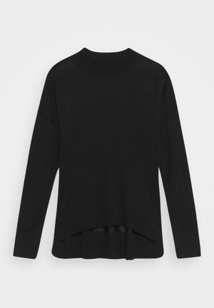 HIGH NECK JUMPER - Trui - black