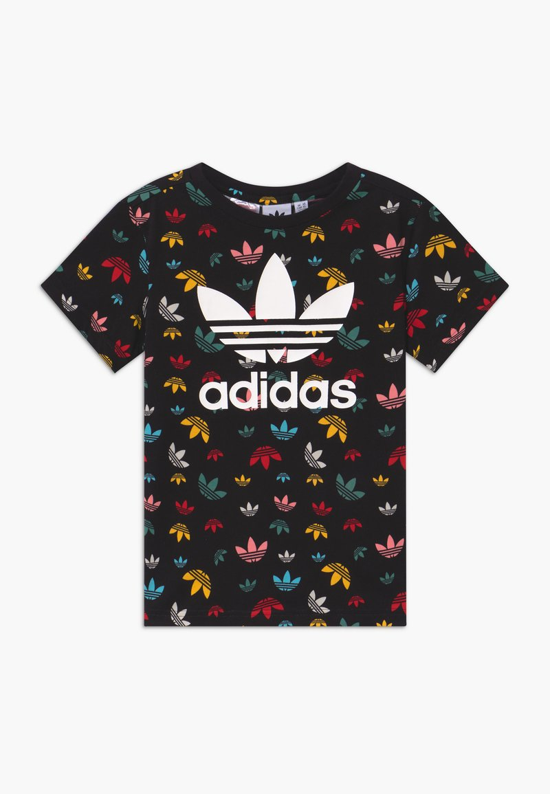 adidas Originals - T-shirt med print - black/multicolour/white
