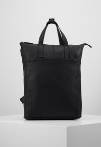 Zign - UNISEX -LEATHER - Rucksack - black - 0