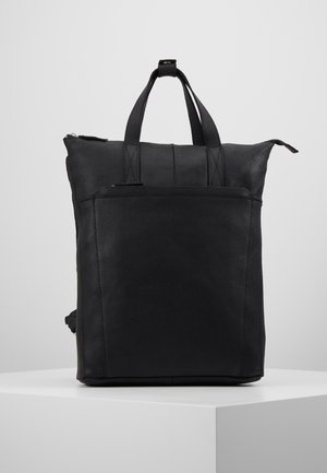 UNISEX -LEATHER - Tagesrucksack - black